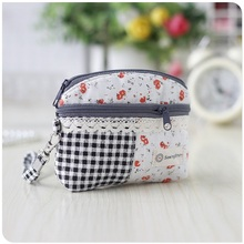 Cotton fabric women's min handbags ladies wristlets sanitary napkin package bags female bolsas feminina bolsos mujeres for girls