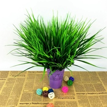 7-fork Green Grass Clover Plant Artificial Plants For Plastic Flowers Household Store Dest Rustic Home Decoration