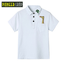 Pioneer Camp Brand Kids Summer 4-16Y Baby Boys Short Sleeve polo Kids Tops Striped Polo Shirt Tops Summer Short Sleeve Polo(China)