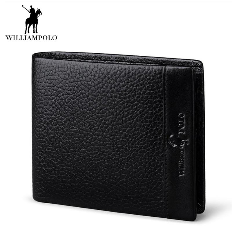 2017 NEW Black Genuine Real Leather Wallets Mens Coins Pocket Solid Short Card Holder Designer Purses Dollar Price Pouch Cartera<br>