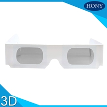 50pcs/lot Cheap Paper circular polarized 3d glasses white cardboard frame polarized glasses polarized lens circular 3D glasses