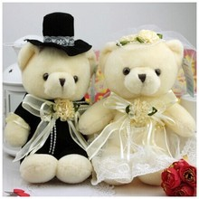 about 20 cm teddy bears plush toy loves wedding bears decoration celebration birthday gift w4949(China)