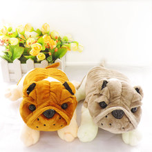(1pc) Small Cute Simulation Animals Dogs Puppies Stuffed Bulldog Sharpei Plush Pugs Soft Toys for Children Kids Gifts Car Decor(China)