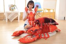 Hot Sell 1Pc 60-90CCm Simulation Big Lobster Plush Toys Funny Stuffed Animal Performance Props Kids Dolls Creative Birthday Gift