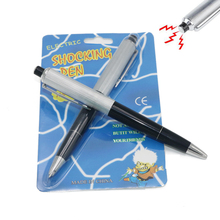 Gift Idea 10pcs/lot New Multi-function Funny Pen Electric Shock Joke Prank Trick Toy Gift Gags Practical Jokes(China)