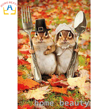 HOME BEAUTY diy 3d diamond painting picture of rhinestones canvas paint mouse couple diamond mosaic embroidery animals AA175