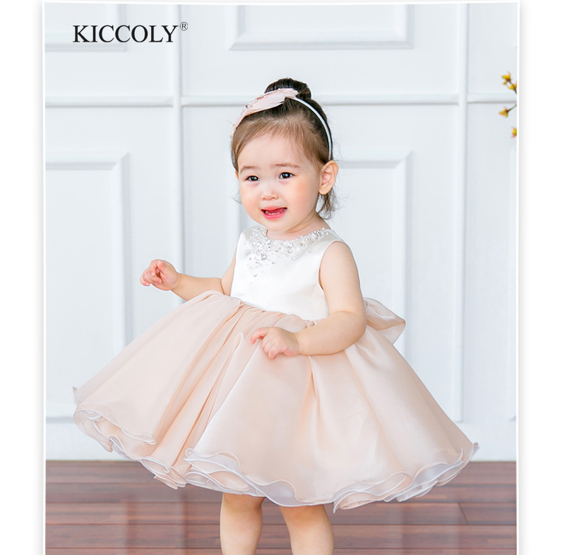 2017 New Summer Sequin Baby Girl Dress 6-24M 1 Years Baby Girls Birthday Dresses Vestido Infant Baptism Christening Dress <br>