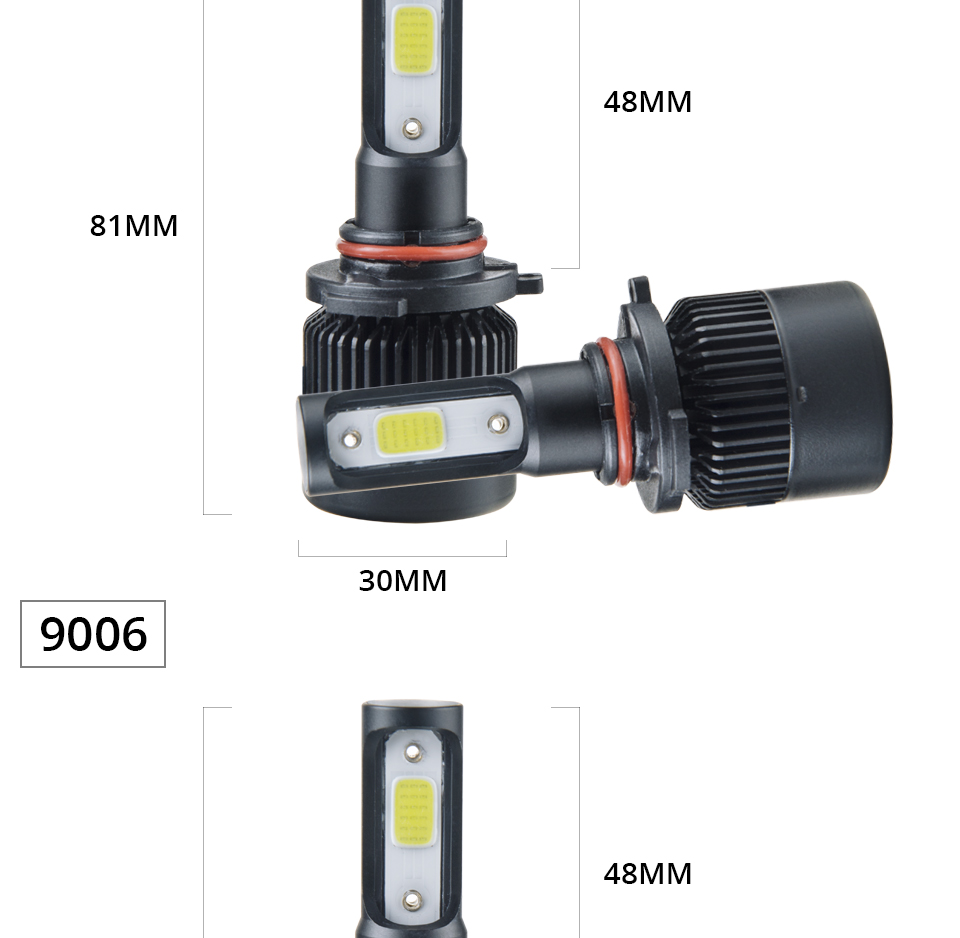 Aceersun H7 H4 LED Bulb Car Headllight H4 H1 H11 9005 72W mini cob chip 12V 24V Auto Headlamp Lamps 8000LM 6500K 4300K Fog Light (20)