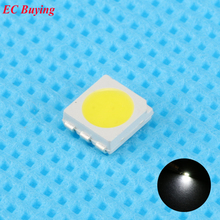 10pcs Ultra Bright 5050 LED SMD White Chip Surface Mount 20mA Light-Emitting Diode LED SMT Bead Lamp Light DIY Practice(China)