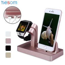 For Apple Watch Charger Docking Station Charging Desktop Cradle Holder Phone Stand for iPhone X 8 7 Plus 6S 6 5S SE Charger Dock(China)