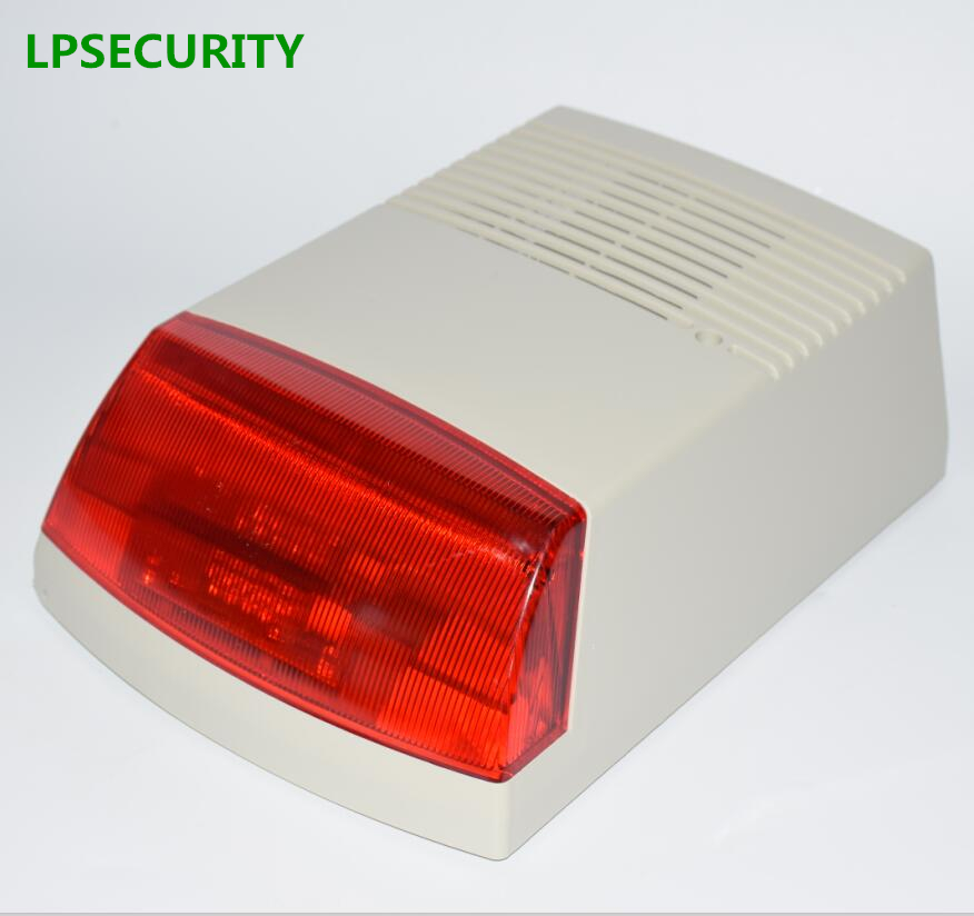 LPSECURITY 120db wired Waterproof Outdoor alarm Siren &amp; Strobe Light for GSM alarm system hospital bank office factory security<br>