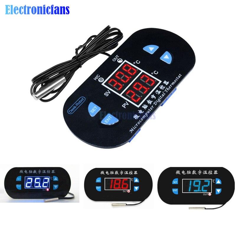 W1308 Digital 12V//220V Red//Blue LED Thermostat Temperature Controller Sensor
