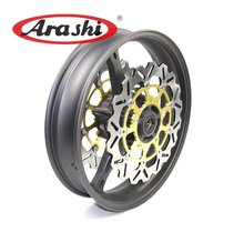 Arashi Motorcycle Rim Front Wheel Rim Set For SUZUKI GSXR600 GSXR750 2006 2007 One Pair Front Brake Discs Brake Rotors(China)