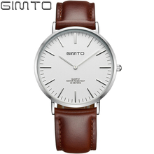 High Quality Original GIMTO Men Watch Top Brand Luxury Tag Watch Men's Simple Waterproof Stainless Steel Watch Men Clock(China)