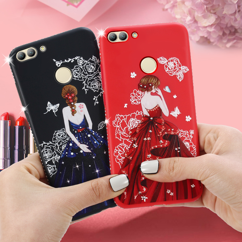 Dress girl silicone case huawei p smart (6)