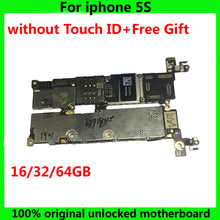 Original Mainboard For Apple Iphone 5s 16GB 32GB 64GB Motherboard Without Fingerprint 100% working IOS System Logic Circuits