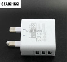 SZAICHGSI 3 USB Ports UK 3 Flat Pin British Plug Home Travel Wall AC Power Charger Adapter For iPhone 7 6 5 iPad Mini Air 200pcs(China)