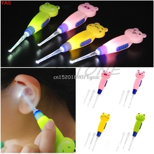 Light LED Dig Flash Light Ear 3x Ear-pick Wax Remover Pick Earpick Clean Ears #H027#