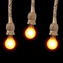 1Pc Vintage Lamp Base Rope Pendant Light Ceiling Lamp Loft Chandelier Base Creative Industrial Without Bulb E27 Socket