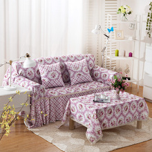 SunnyRain Polyester European I Shaped Sofa Cover Sectional Sofa Covers Slipcover Couch Cover Chaise Longue Table Cloth(China)