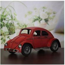 Handmade antique tin classic car household decoration furnishing articles retro beetle car models Miniatures craft gift