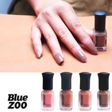 Blue Zoo DIY Nail Art Polishes 6ml Coffee Brown Colors Lacquer Gel UV Makeup Tools 3D Nail Art Salon Manicure Liquid Polishes