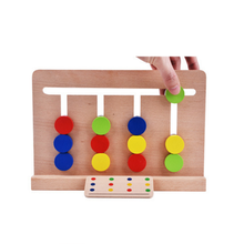 Hot 1 Set Four Color Cognitive Toys for Children Early Childhood Teaching Aids Enlightenment Kids Game Gifts 2018(China)