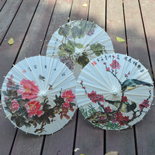 Handmade oilpaper craft mini umbrella diameter 30cm / Kids stage performance roof Ceiling decoration / Chinese flower painted