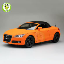 1:18 Scale Audi TT Roadster Convertible Car Model Welly 18016H Orange(China)