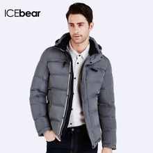 ICEbear 2016 Polyester Winter Jackets And Coats Thick Warm Fashion Casual Handsome Young Men Parka Fit Snow Cold 16MD895