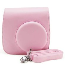 New Hot Camera Case Bag Cover for Fujifilm Instax Mini8 Mini8s Single Shoulder Bag Pink(China)