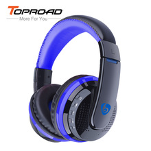 TOPROAD Big Bluetooth Headphones Wireless Headband Earphone Stereo Headset Support FM TF Card handsfree for Phones PC