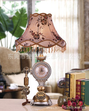 Manufacturers selling European antique vintage clock lamp with antique phone three bedroom bedside lamp room study