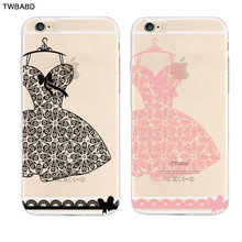 Lace Dress Wedding Gift Fasion Accessory Phone Cases for iPhone 5/5S/SE/5C/6S/6S Plus/7/7Plus Thin Silicone TPU Cover