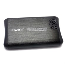 "Compact 3D HD 1080P 2.5"" SATA HDD Media Player with HDMI/USB Host/SD/AV-Out/COAX - Black Free shipping!(Hong Kong)"