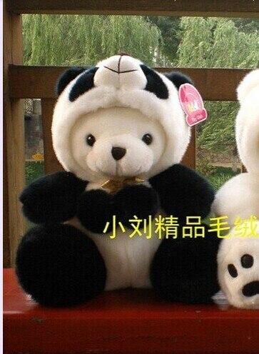 cute panda toy stuffed bear and panda sitting plush panda birthday gift about 30cm<br>