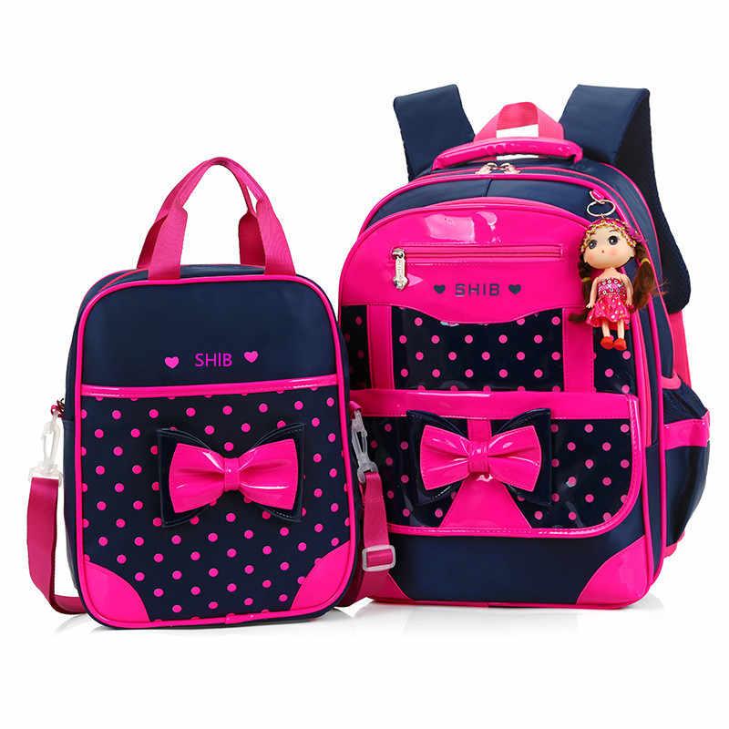 93800da0550c Детские школьные сумки для девочек рюкзак детские рюкзаки с принтом набор Школьный  Рюкзак Детские Непромокаемые Школьные