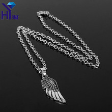 HEYu Fashion Jewellery Angel Wings Supernatural Chain Choker Steampunk Gothic Friendship Feather Vintage Pendent Necklace