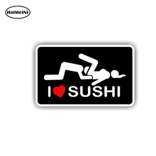 HotMeiNi 13cm x 6.5cmI Car Styling Love Sushi Decal Sticker Toolbox Hard Hat Jdm Cell Phone Funny Car Hatch Waterproof(China)