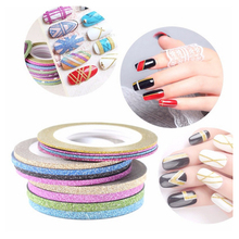 1PCS Mixed Colors 1mm/2mm/3mm Nail Rolls Striping Tape Line WomanDIY Nail Art Tips Decoration Adhesive Sticker Nails Products