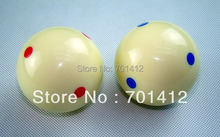 "2 1/4"" 6 blue/red dotted white cue ball billiard ball free shipping(China)"