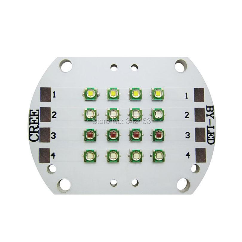 Cree XPE XP-E 4 Channel 12Leds RGBW Led Emitter Light White 6000K Green 520NM Red 620NM Blue 470NM DIY Plant Grow Led Light<br><br>Aliexpress