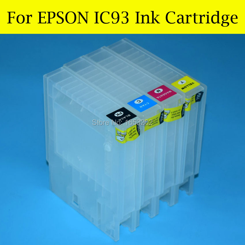 4 Pcs/Set IC93 Refill Ink Cartridge For Epson PX-M7050F PX-M7050FP PX-M7050 PX-S7050 Ink Cartridge IC93 With ARC Chip<br><br>Aliexpress