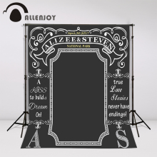 Allenjoy Custom blackboard Wedding Background Idea Chalk Archway backdrop chalkboard photo booth diy photocall Excluding bracket