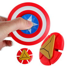 2017 New EDC Fidget Toy Hand Spinners CNC Finger Stress Spinner Iron Man WOW Captain America Shield relax action toys(China)