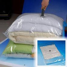 Home Storage Vacuum Space Saver Bag, Compressed Organizer Clothing Quilt Air Pump Seal Bag for Organizing Cupboard Wardrobe
