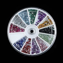 1.5mm 3600pcs Nail Art decorations Glitter Tips Rhinestones Round Gems for Nail Art Nail Beauty