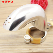 Buy Cock Lock Stainless Steel Lockable Penis Cage Penis Cock Ring Sleeve Male Chastity Device Cage Belt Cockring Sex Toys Men