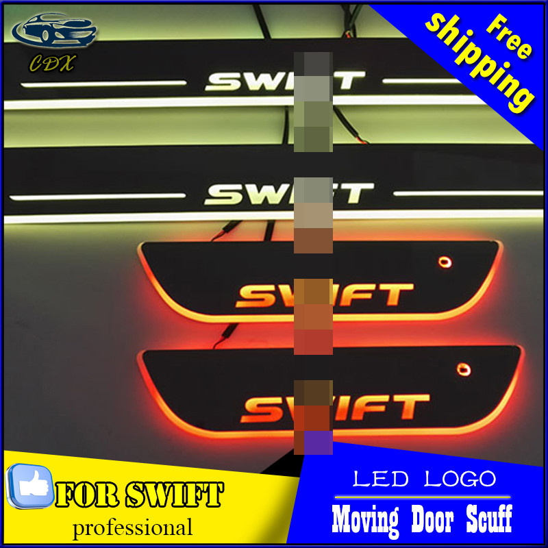 Car Styling LED Moving Door Scuff For Suzuki Swift 2012- 2015 Door Sill Plate Cover Side Step Led welcome Pedal Accessories<br><br>Aliexpress