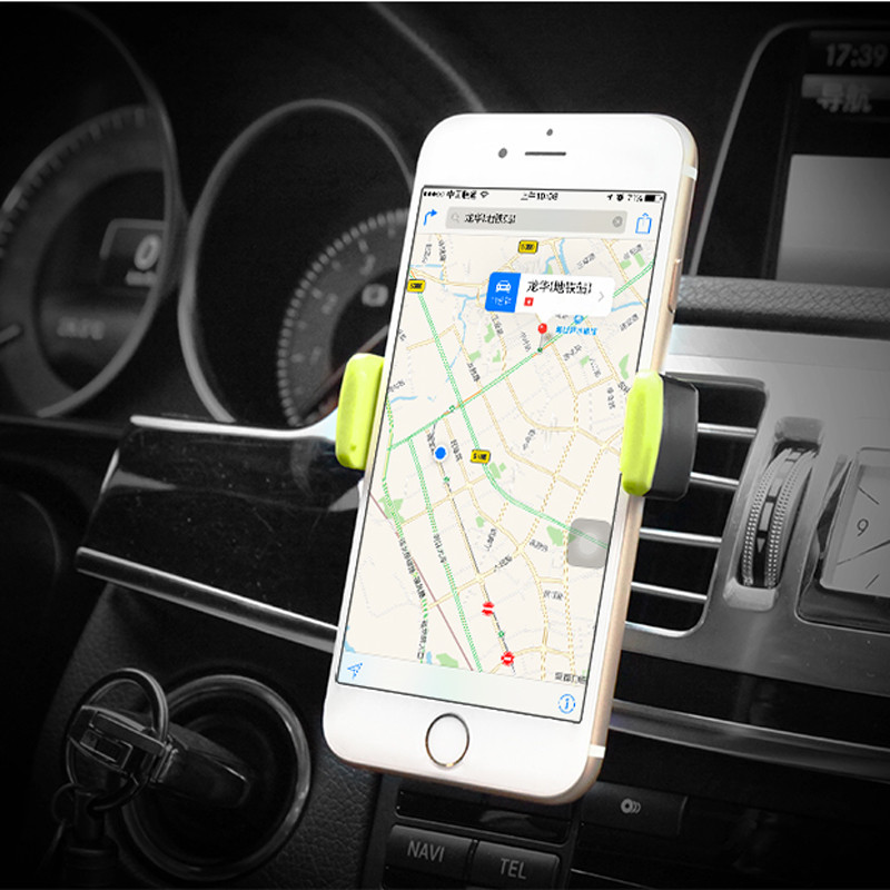 Car Mobile Phone Holder Air Vent Monut Holder Stand Universal 360 Degree Adjustable Car Clip For iPhone X 8 7 5 SE 6 6S Plus (1)